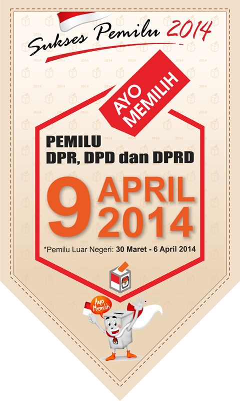 flyer balon pemilu damai 2014